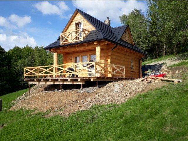 Dom z bali OSO USTROŃ NA ZGŁOSZENIE 7x5 m