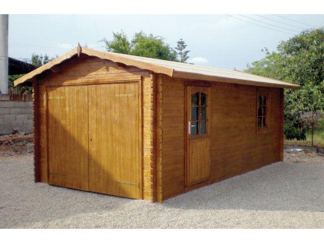 Drewniany Garaż jednostanowiskowy GP3