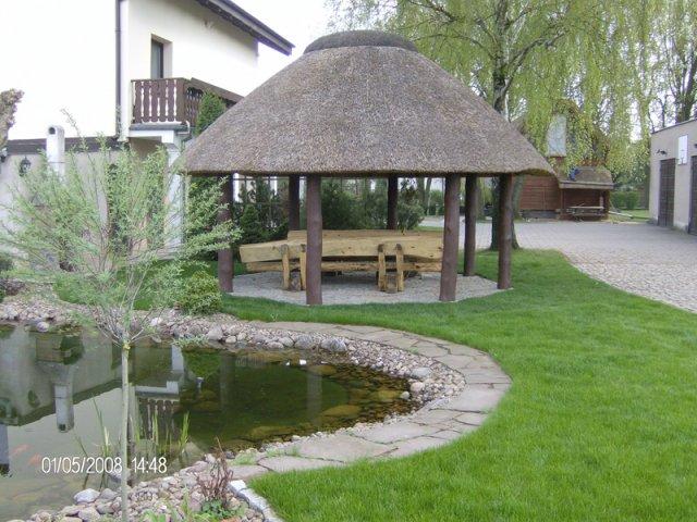 Altana drewniana kryta strzechą Tarnów
