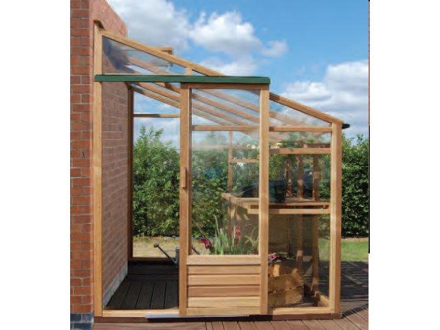 Szklarnia drewniana przyścienna Growhouse 1,93 x 2,99 x 2,27 m