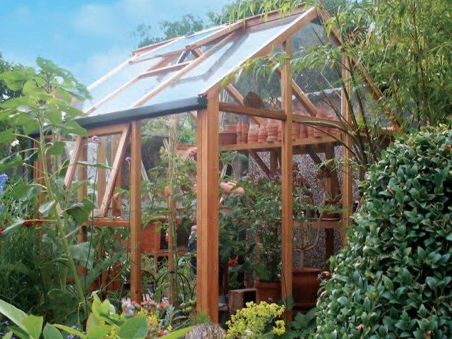 Szklarnia drewniana Growhouse 1,84 x 1,84 x 2,21 m