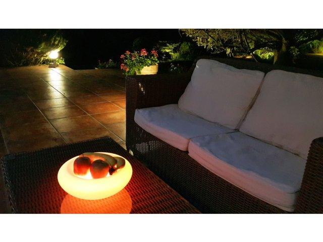 Lampa dekoracyjna LED Misa na owoce RGB 30cmx13cm