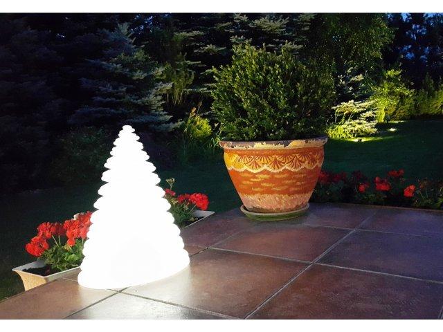 Lampa dekoracyjna LED Okrągła choinka RBG 37cmx26cmx50cm