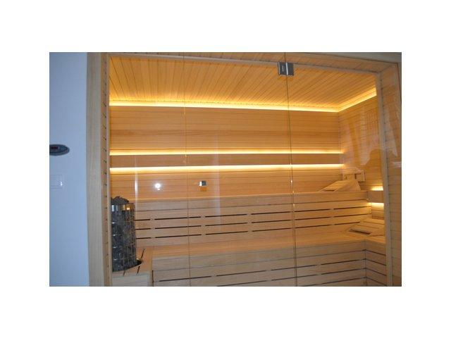 Przeszklona sauna fińska
