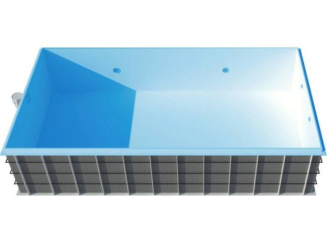 Basen polipropylenowy skimmerowy 8 x 3,5 x 1,5 m