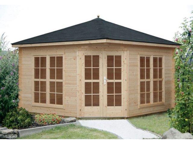 Domek drewniany pięciokątny Wanda III