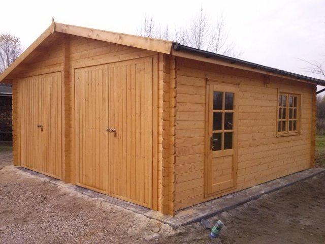 Drewniany Garaż dwustanowiskowy GP2
