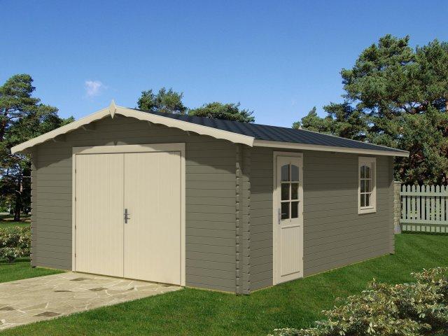 Drewniany garaż jednostanowiskowy GP1