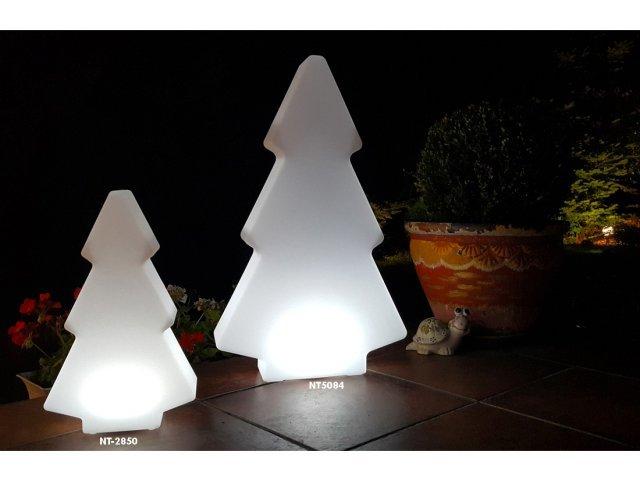 Lampa dekoracyjna LED mała choinka RBG 28cmx15cmx50cm