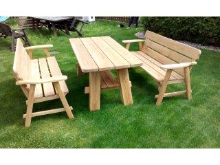 Meble ogrodowe - drewniane