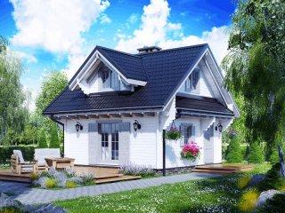 Drewniane domki z poddaszem